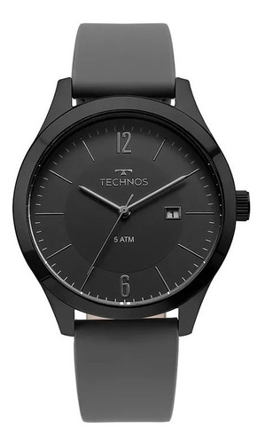 relógio technos masculino steel 2115mou/2p original nota fis