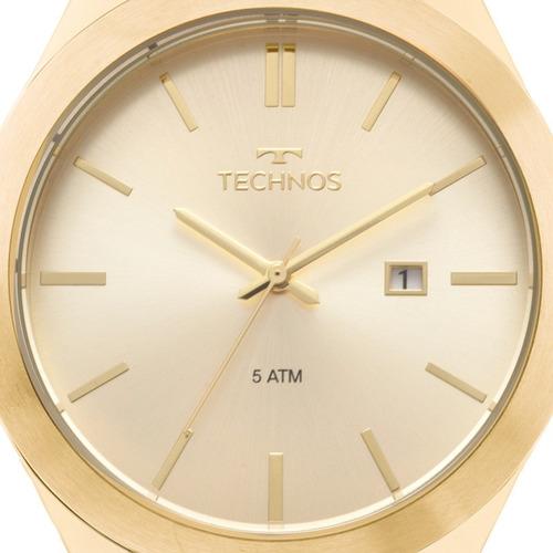 relógio technos masculino steel dourado original 2115mnp/1d