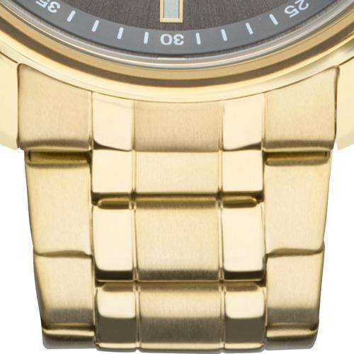 relógio technos masculino steel dourado preto 2115mng/4c