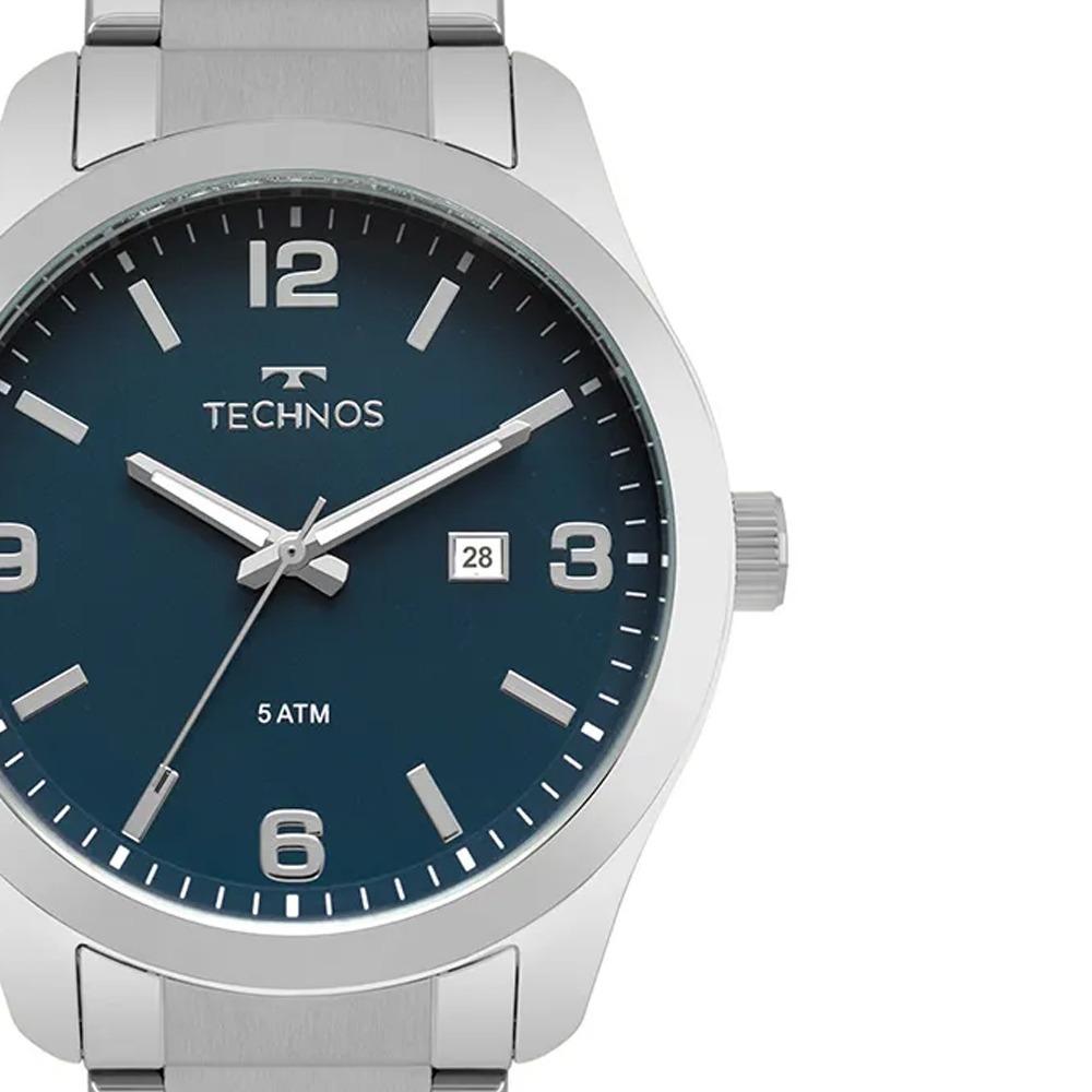 relógio technos masculino steel prata classic 2115mpk 1a nf. Carregando  zoom. 1ecb74cd01