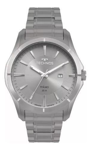 relógio technos masculino titânio 2115mtw/4c original barato