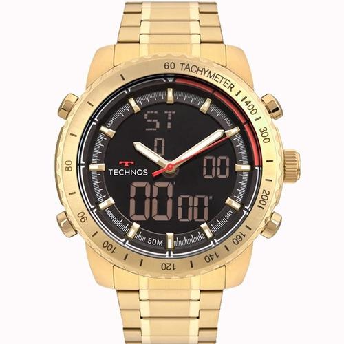 relógio technos masculino w23745ac/4p cronógrafo c/ nota