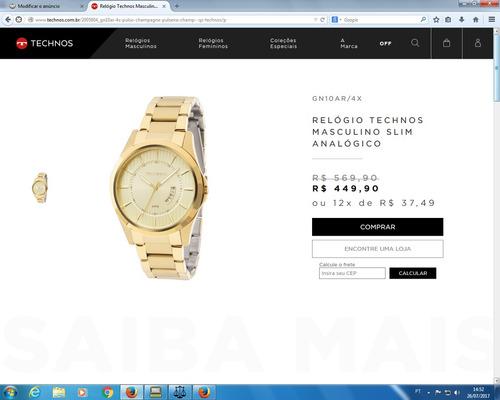 relógio technos novo e sem uso, preciso vender urgente.