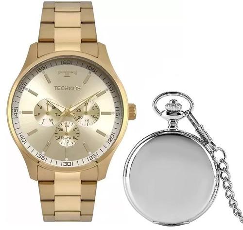 relógio technos original  masculino t34 + relg. bolso