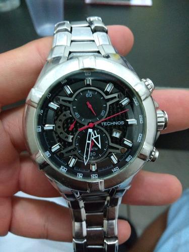relógio technos performance ts carbon masculino os1aah/1r