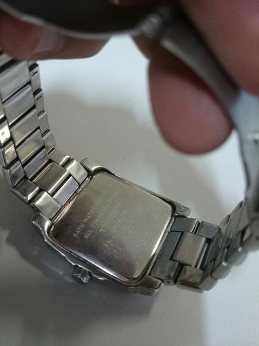 relógio technos quadrado multifunção