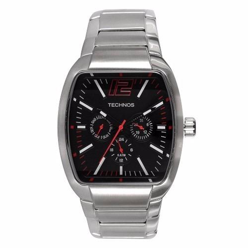 497faa3e9f3 Relógio Technos Quadrado Prata Esportivo Em Aço 6p29afr 1p - R  389 ...