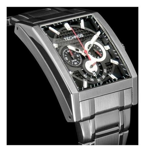 relógio technos quadrado  sport  troca pulseira os2aaf/1p