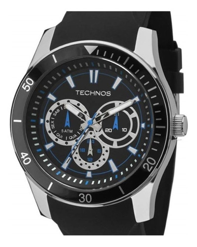 relógio technos racer pulseira de silicone 6p29aiq/8p azul