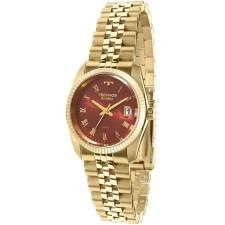 relógio technos riviera feminino dourado vermelho gl10ic/4r