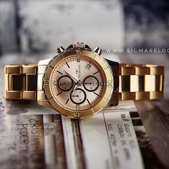4a9c055bac42e Relógio Technos Rosé Feminino Elegance Ladies Js15fk 4t - R  428