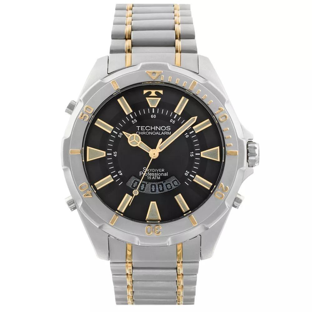 efc7a323d9a35 Relógio Technos Skydiver 30 Anos T205fq 5p Prata Grande 150m - R ...