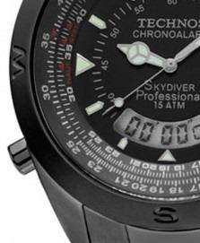 4eade9f908158 Relógio Technos Skydiver Anadigi Preto 150 Metros T20570 1p - R  649 ...