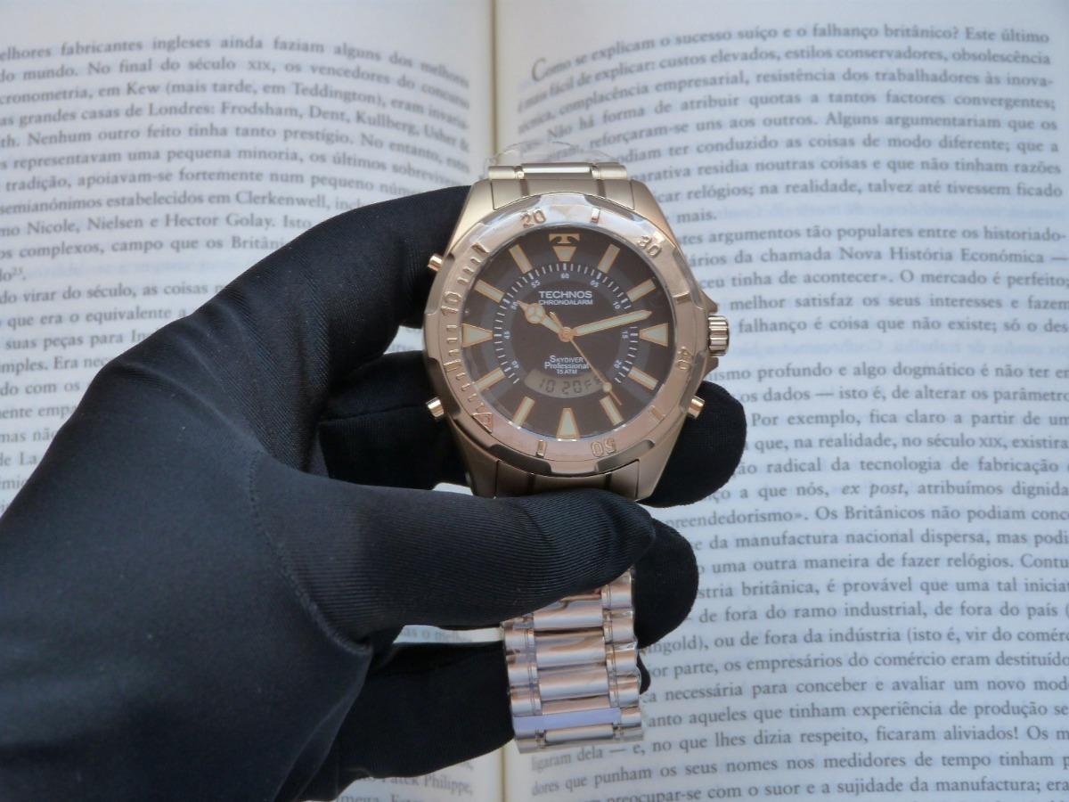 5e72db376c9 Relógio Technos Skydiver Dourado T205fl 4p Grande 30 Anos - R  580 ...