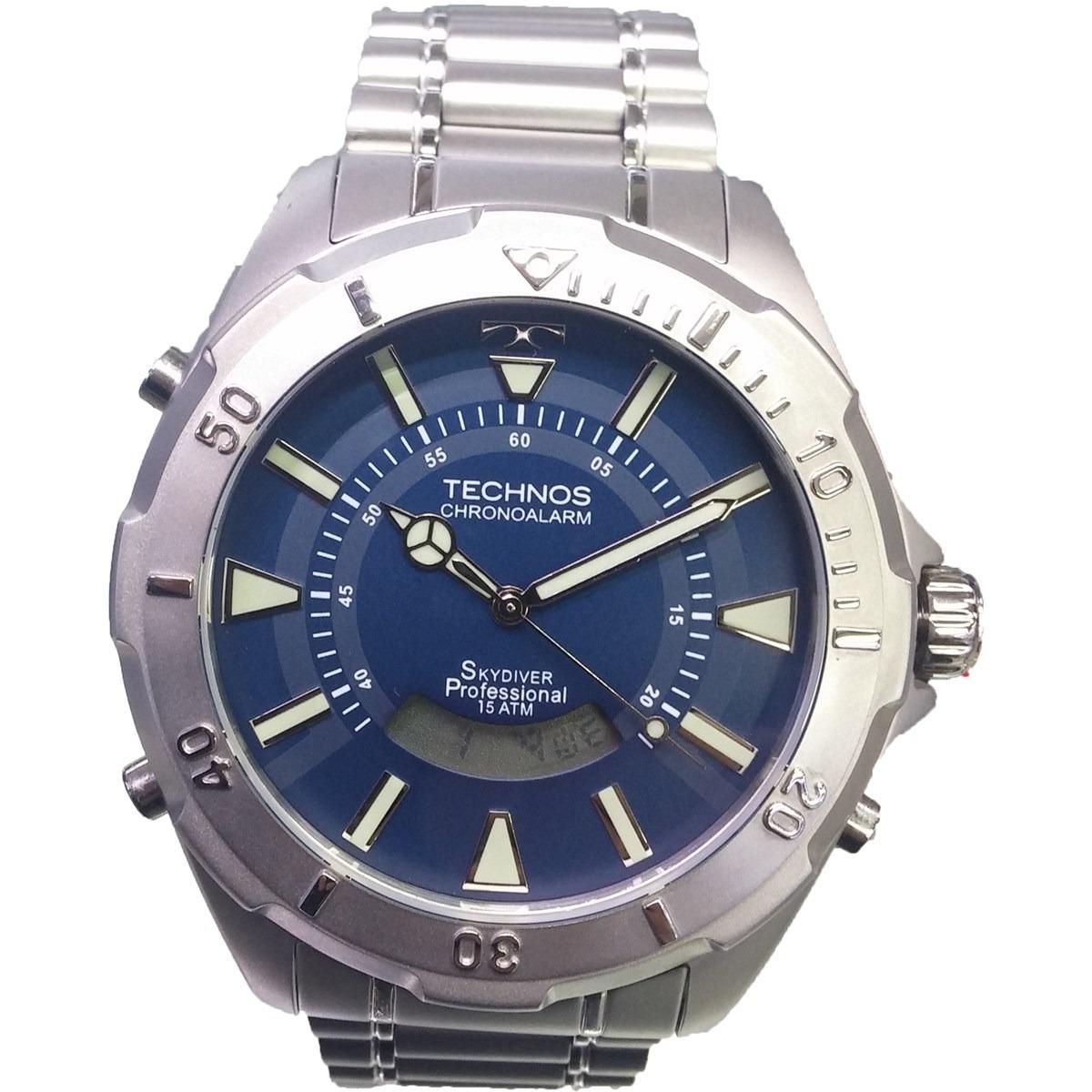 Relógio Technos Skydiver Fundo Azul Grande T205fm 1a - R  489,00 em ... 15ec65a6ab