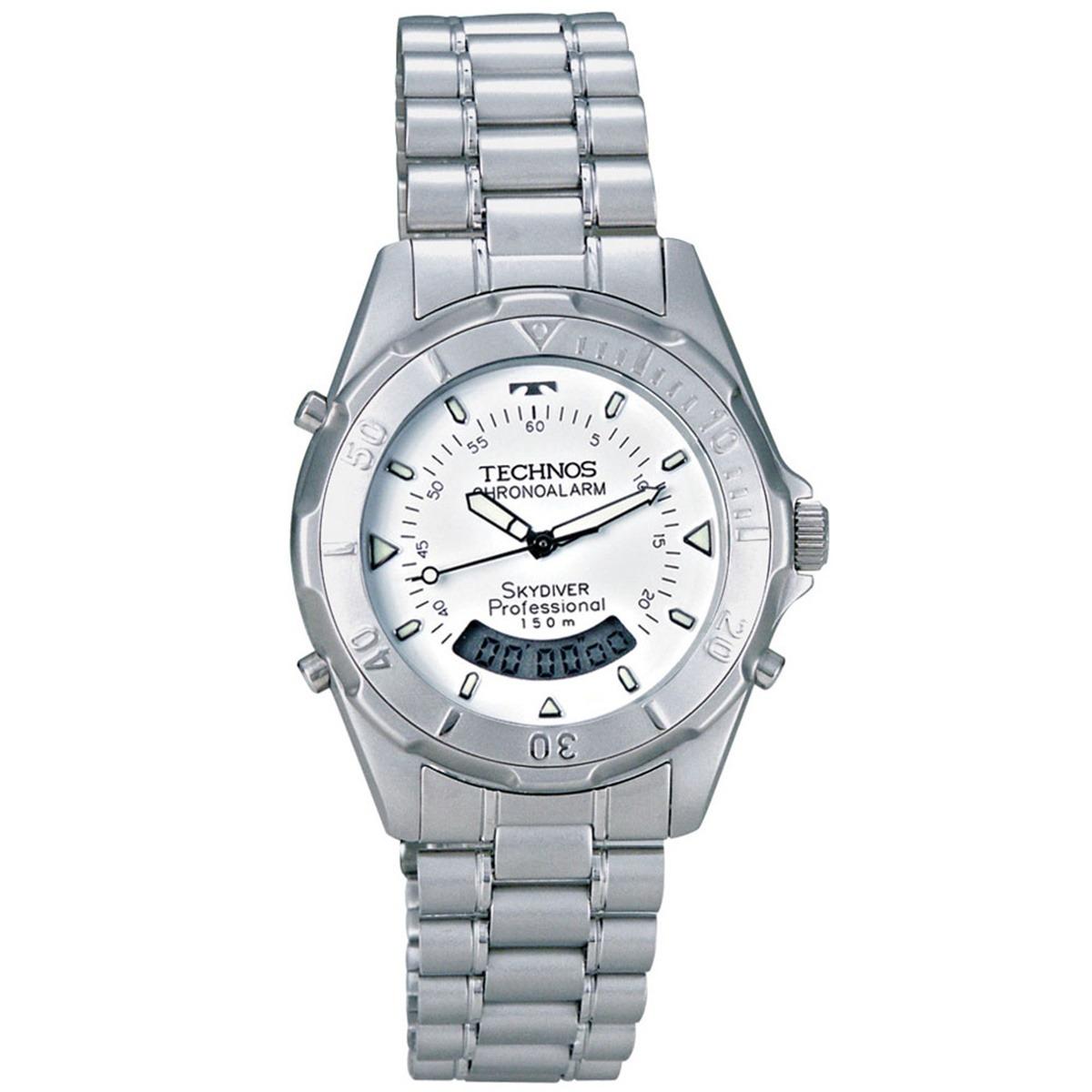 80c92f1af63 Relógio Technos Skydiver Masculino Anadigi T205573b - R  389