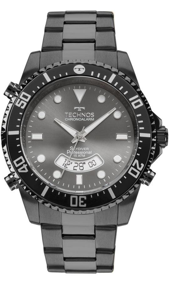 9fb23e4294533 Relógio Technos Skydiver T205je 4p Anadigi Grande T205je 4p - R  597 ...