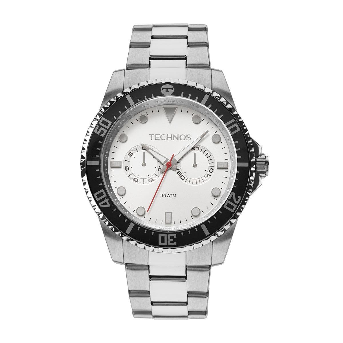 relógio technos skymaster masculino prata analógico 6p25bm 1. Carregando  zoom. 0e7999a510