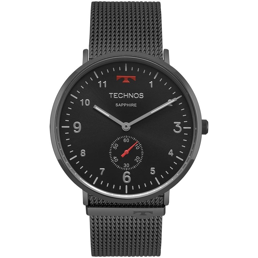 b09ad68f4fd84 Relógio Technos Slim 1l45aw 4p 1l45aw 4p Sapphire Grafite - R  515 ...