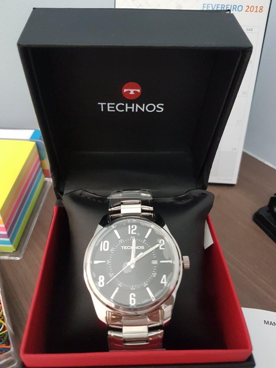8a6dc396c700d Relógio Technos Steel Masculino Analógico 2115gy 1p - R  251