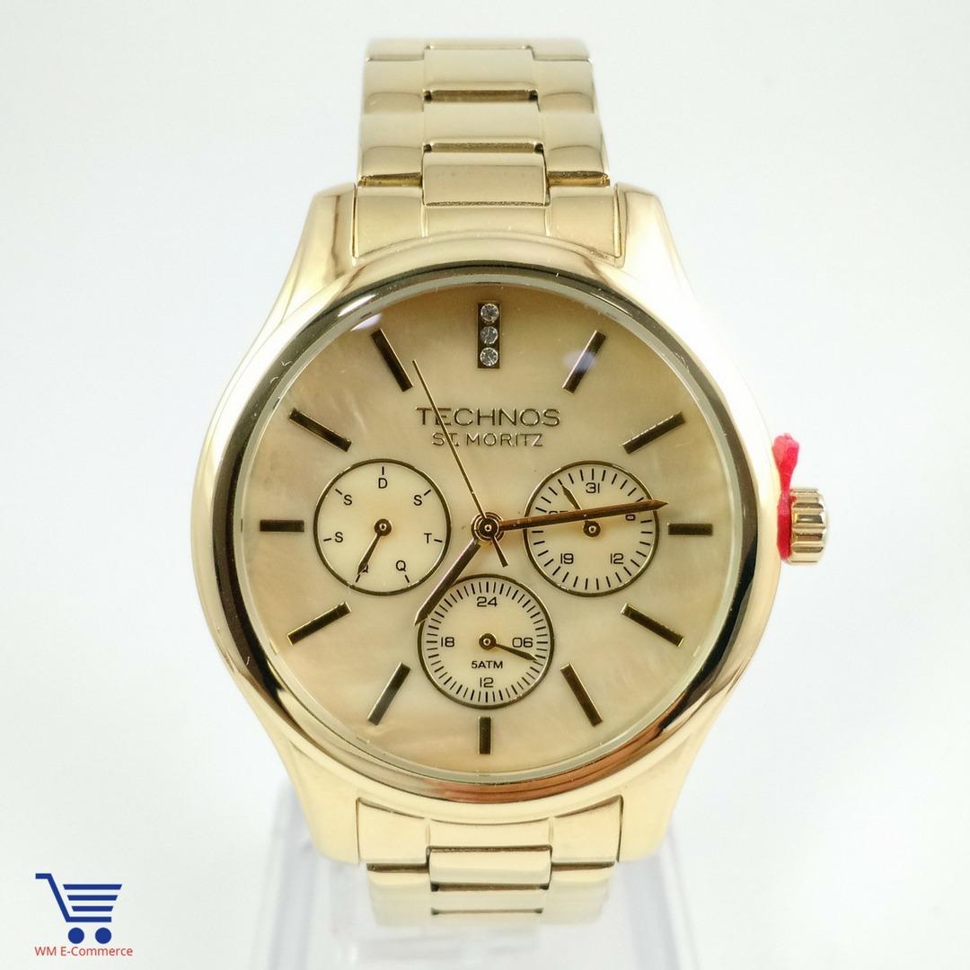 Relógio Technos St.moritz Feminino Dourado 6p29ahg 4x - R  534,99 em ... f7c577e61e
