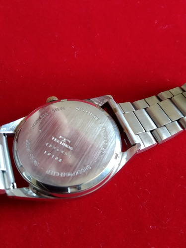 relógio technos suiço 17 jewels incabloc mecânico anos 50/60