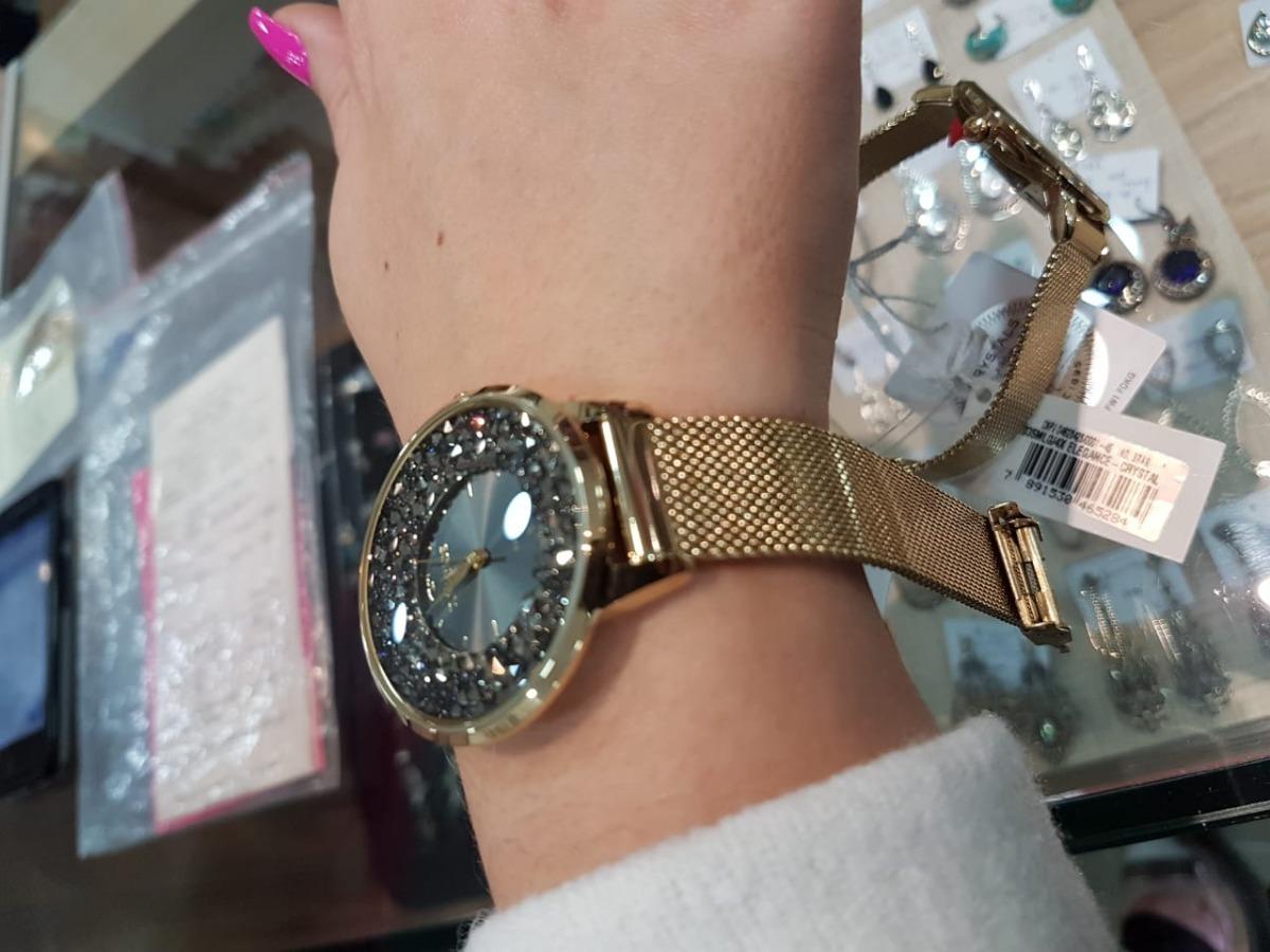 29533c687e4 relógio technos swarovski elegance analógico feminino 2035ml. Carregando  zoom.