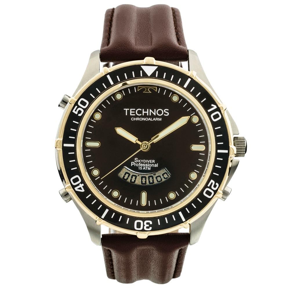 8918136c96b9a relógio technos t205ix0p analógico e digital + nf e garantia. Carregando  zoom.