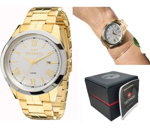 relógio technos unisex 2115mgm/4k garantia + nfe