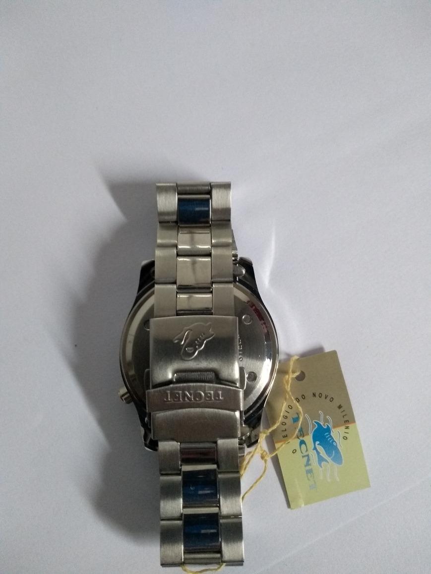1c04849618e relógio tecnet cromado aço social prata prova d água. Carregando zoom.