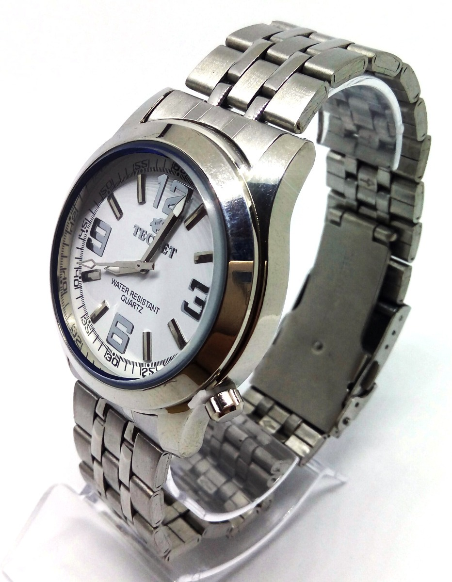 c304648fc06 relógio tecnet prata masculino - prova d agua. Carregando zoom.