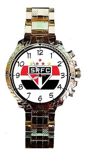 relógio tema spfc são paulo tricolor futebol bola gold top