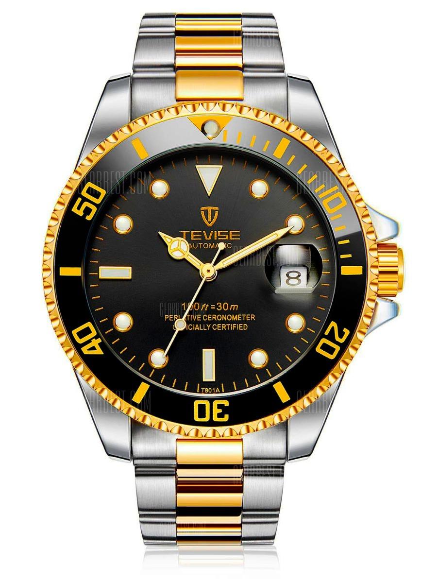 537768a95be relógio tevise automático original luxo submariner - rolex. Carregando zoom.