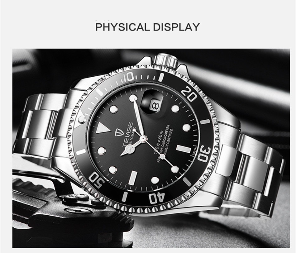 74c33612e16 Relógio Tevise Masculino Prova D água Automático Prova Dágua - R ...