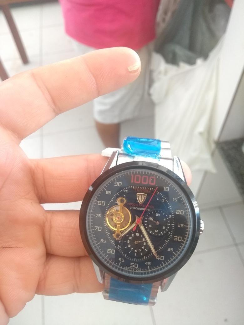 0d856b7a96e relógio tevise skeleton mecânico automático original + caixa. Carregando  zoom.