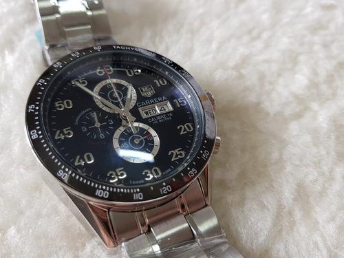 relogio th - cal16 - aço - cronografo - datador duplo
