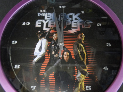 relogio   the  black  eyed  peas      20  x  20  cm  parede