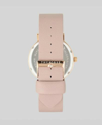 relógio the horse dourado banhado a ouro pulseira rosa