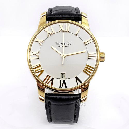 relógio tiffany atlas ouro 18k automático - cartier