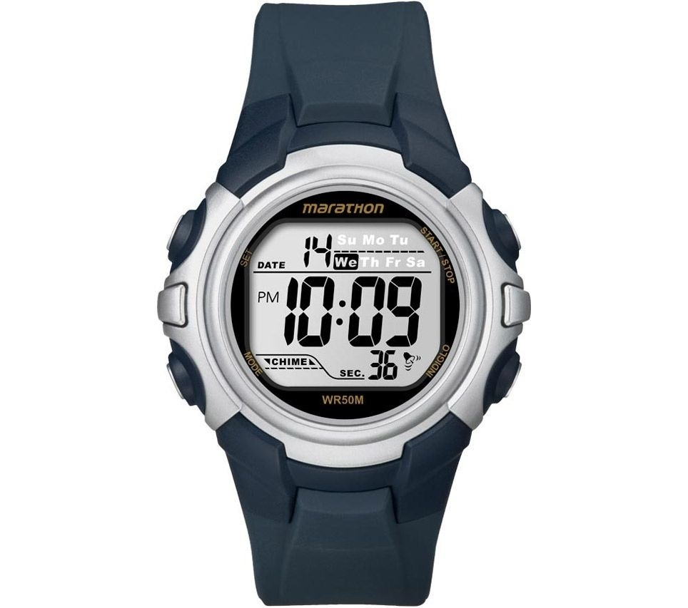 cd3cee875cf67 relógio timex marathon digital t5k644wkl tn - prata   azul. Carregando zoom.
