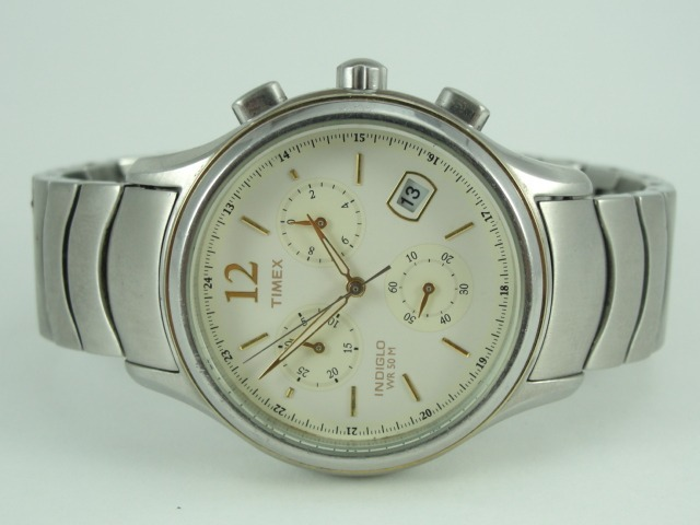9115350fc04 relógio timex masculino mod  indiglo - wr 50 - cronógrafo · relógio timex  masculino