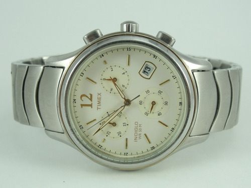 relógio timex masculino mod: indiglo - wr 50 - cronógrafo
