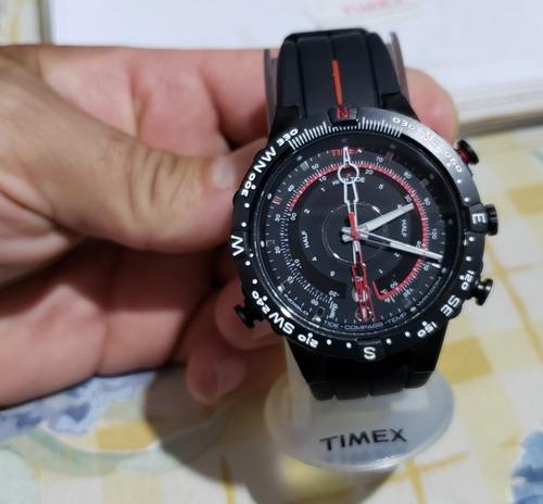 relógio timex masculino t2p140 temp., bússol e tábua de maré