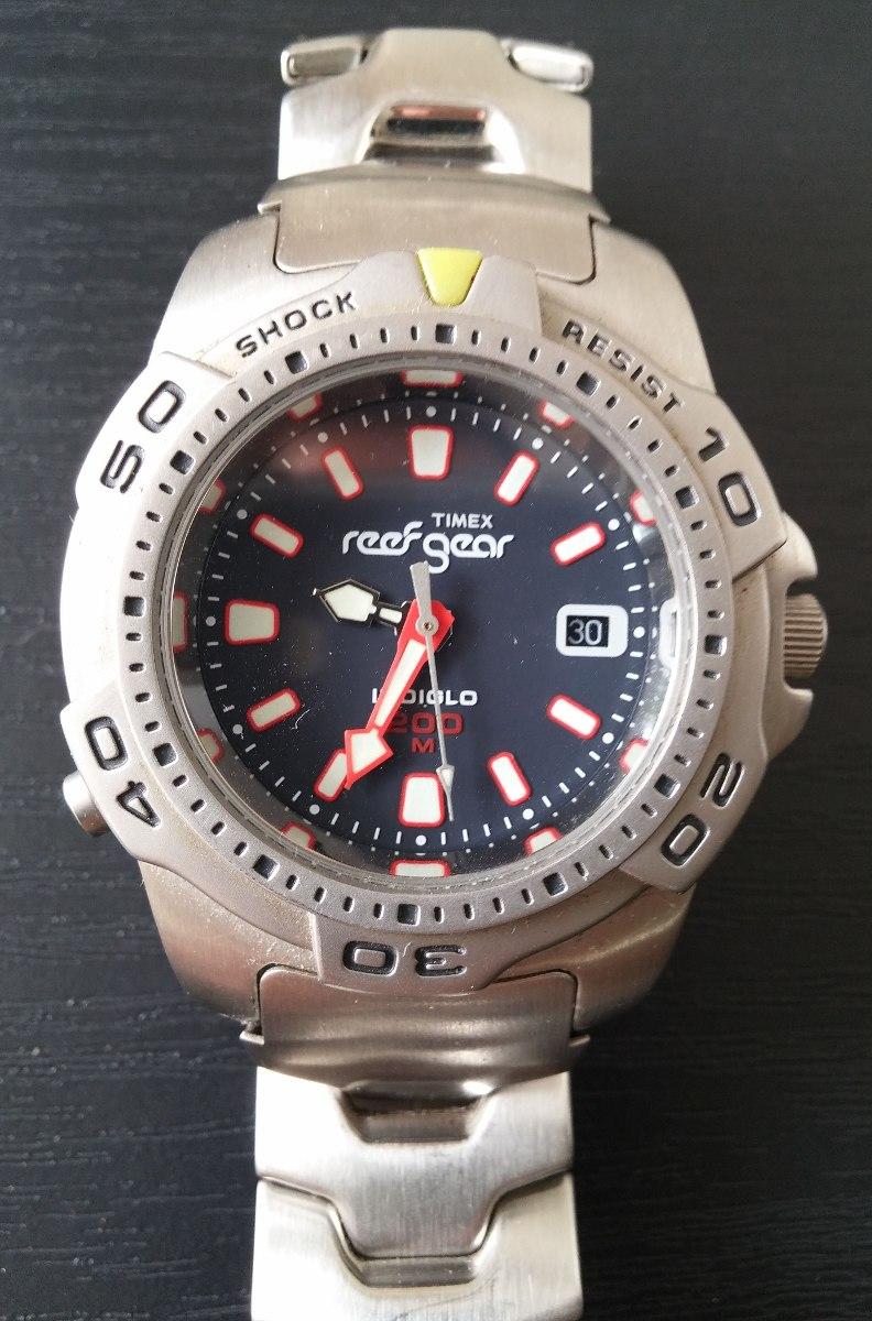 c1e22b97208 Relógio Timex Reef Gear Indiglo 200m Raridade R  190 00 em Mercado Livre