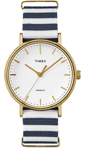 relógio timex weekender tw2p91900ww/n pulseira de nylon