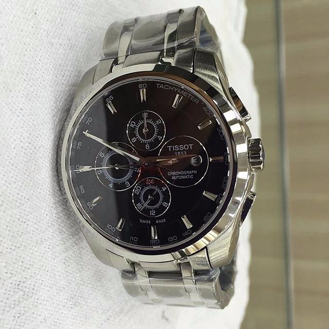 12f45033501 Relógio Tissot 1853 Automático Aço Mostrador Preto - R  650