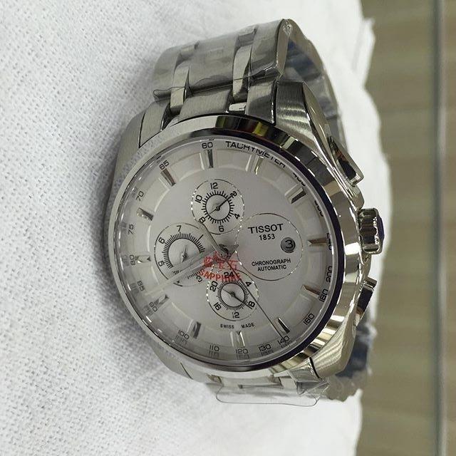 59ad285437e Relogio Tissot 1853 Fundo Branco Automático - R  600
