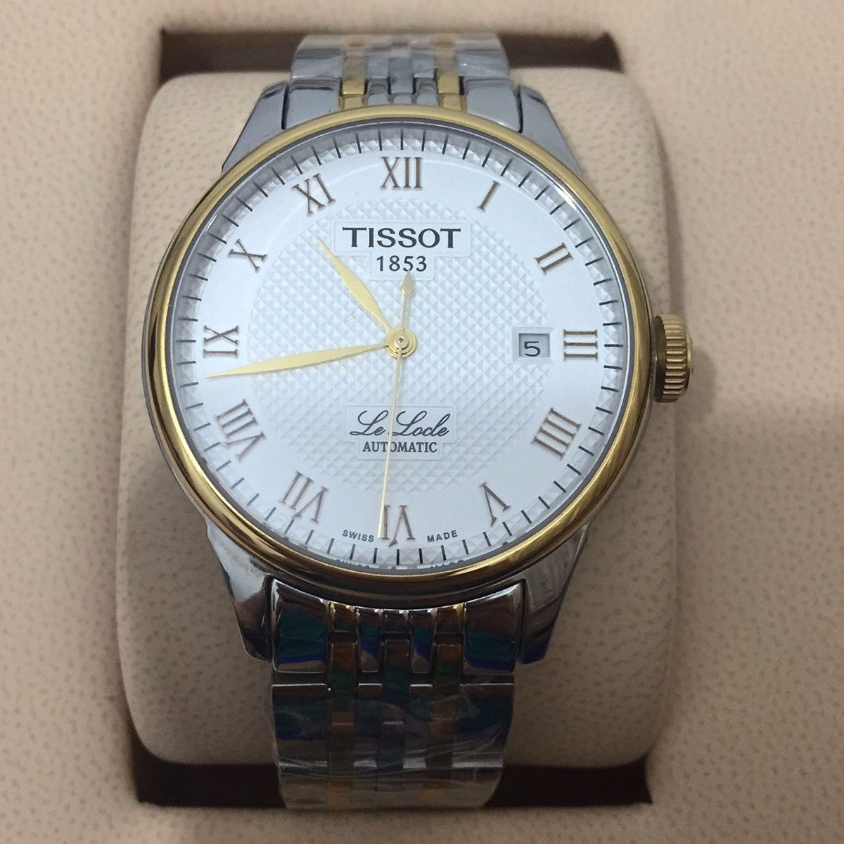 4064314145e relógio tissot 1853 le locre misto mostrador branco. Carregando zoom.