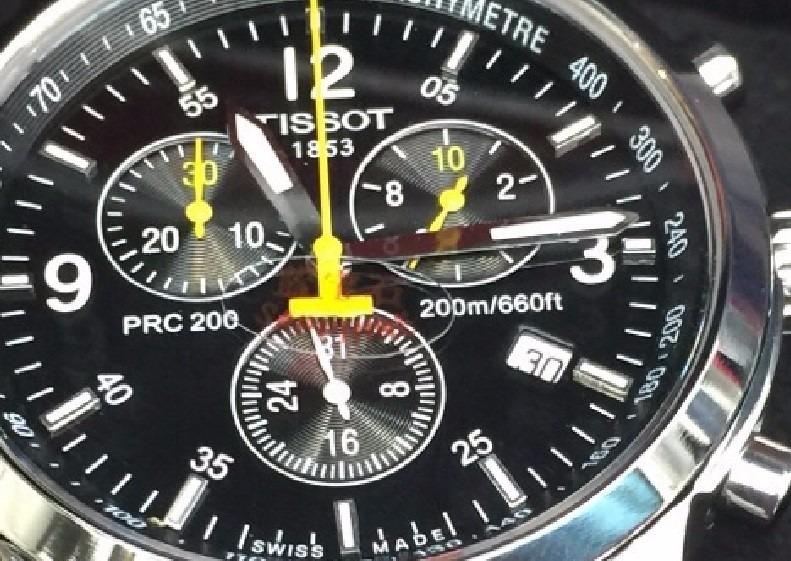 4fee4601b91 Relogio Tissot 1853 Prata Preto 12x Sem Juros Excelente - R  499