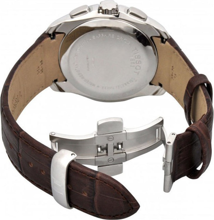 a5a98834725 Relógio Tissot Couturier T035.617.16.031.00 Branco Couro - R  1.379 ...